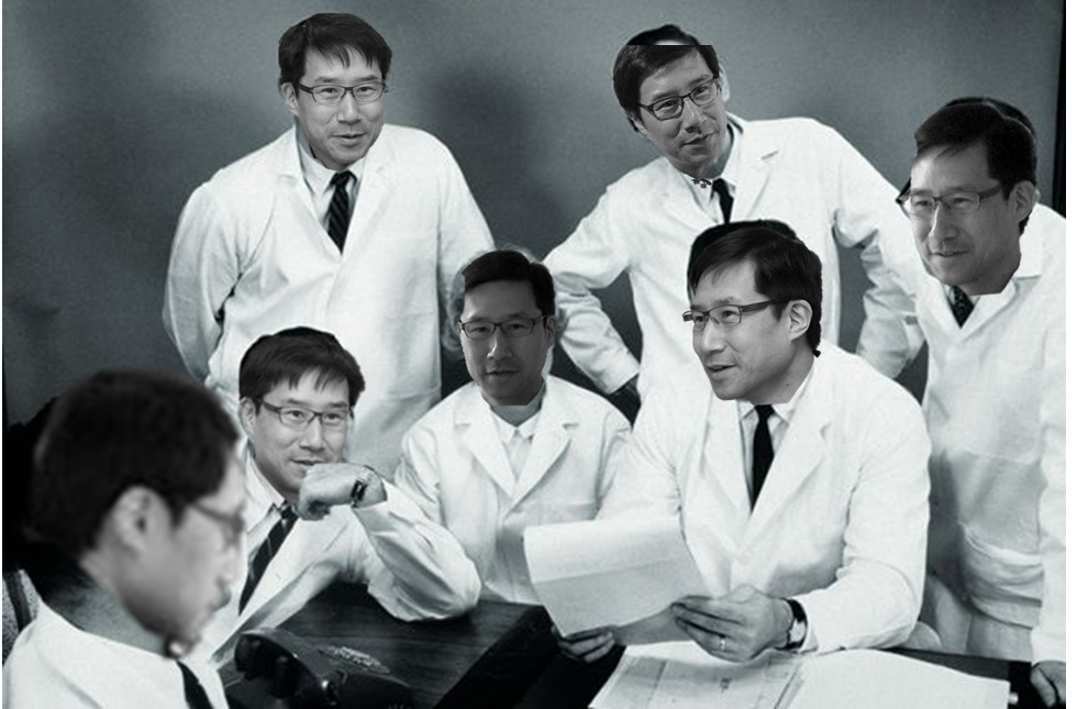 A crack team of Hasok-scientists hard at work.
