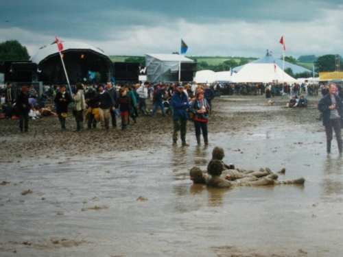 Glastonbury festival at its  muddiest !