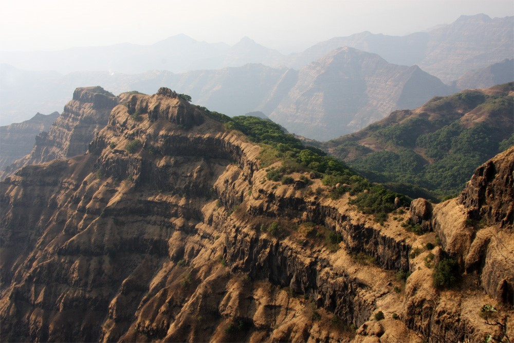India's Deccan traps: even if they cause mass extinctions, volcanism sure makes for some pretty landscapes...