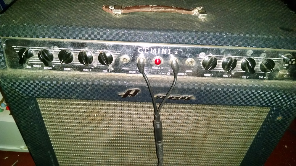 Wow some great reverb and feedback using this amp tonight..