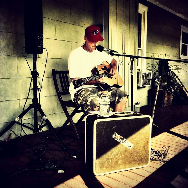 Yakima musician These Guitars Say Sorry performing at Wilridge and Naches Heights Vineyard