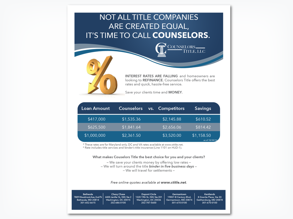 COUNSELORS TITLE, LLC