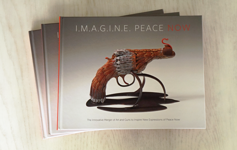 Imagine Peace Now Book, logo, book design, graphic design, graphic designer, Rhode Island based graphic designer