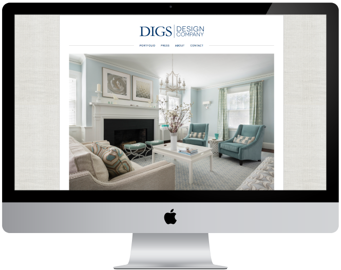 Digs Design Company Website
