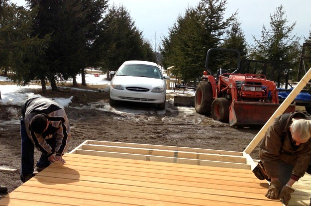 Building the Tool Shed Deck