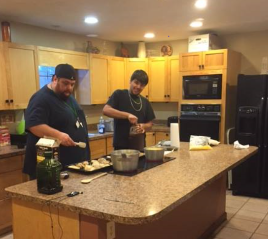 Mr. Lucas And Lucio Are Working Together In The Roth Home Kitchen. Mr.  Lucas Dreams Up Amazing Meals For The Hungry Ranchers. The Ranchers Enjoy  Working ...
