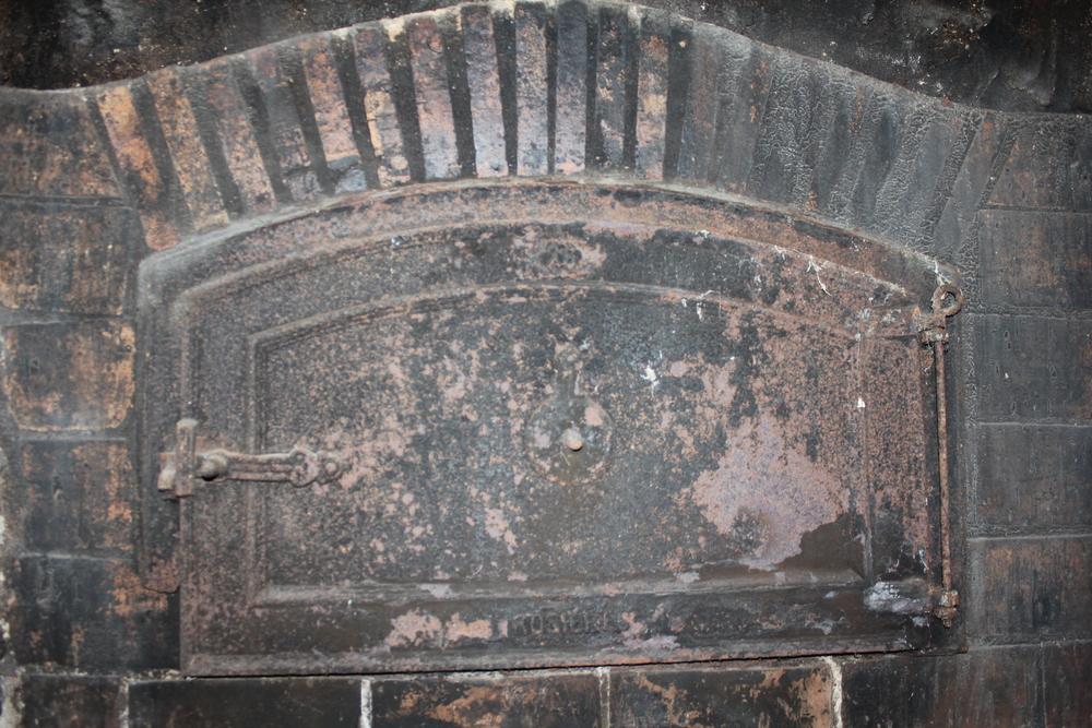 The door to the bread oven.