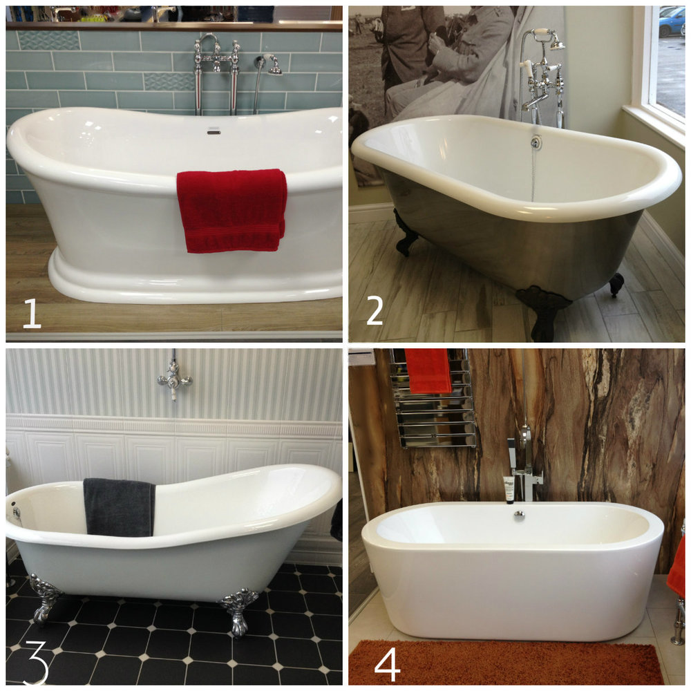 Different bath ideas posted on facebook.