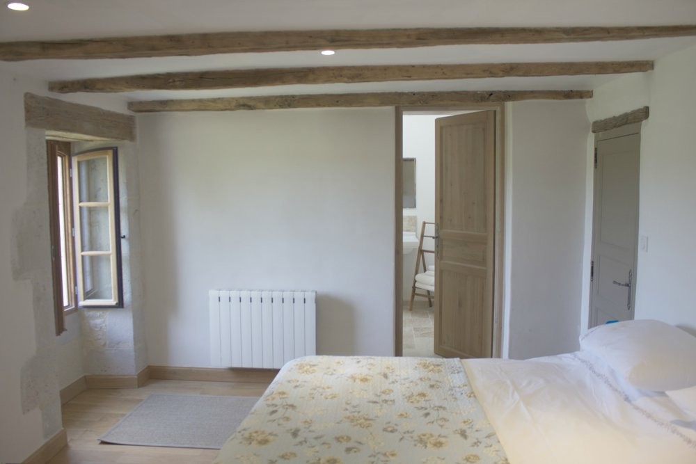 5. Tournon bedroom with view to the bath/shower room.