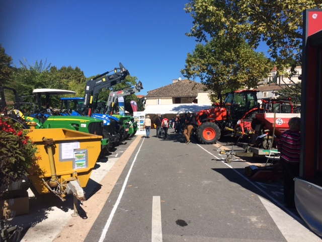 Tractors in the town.