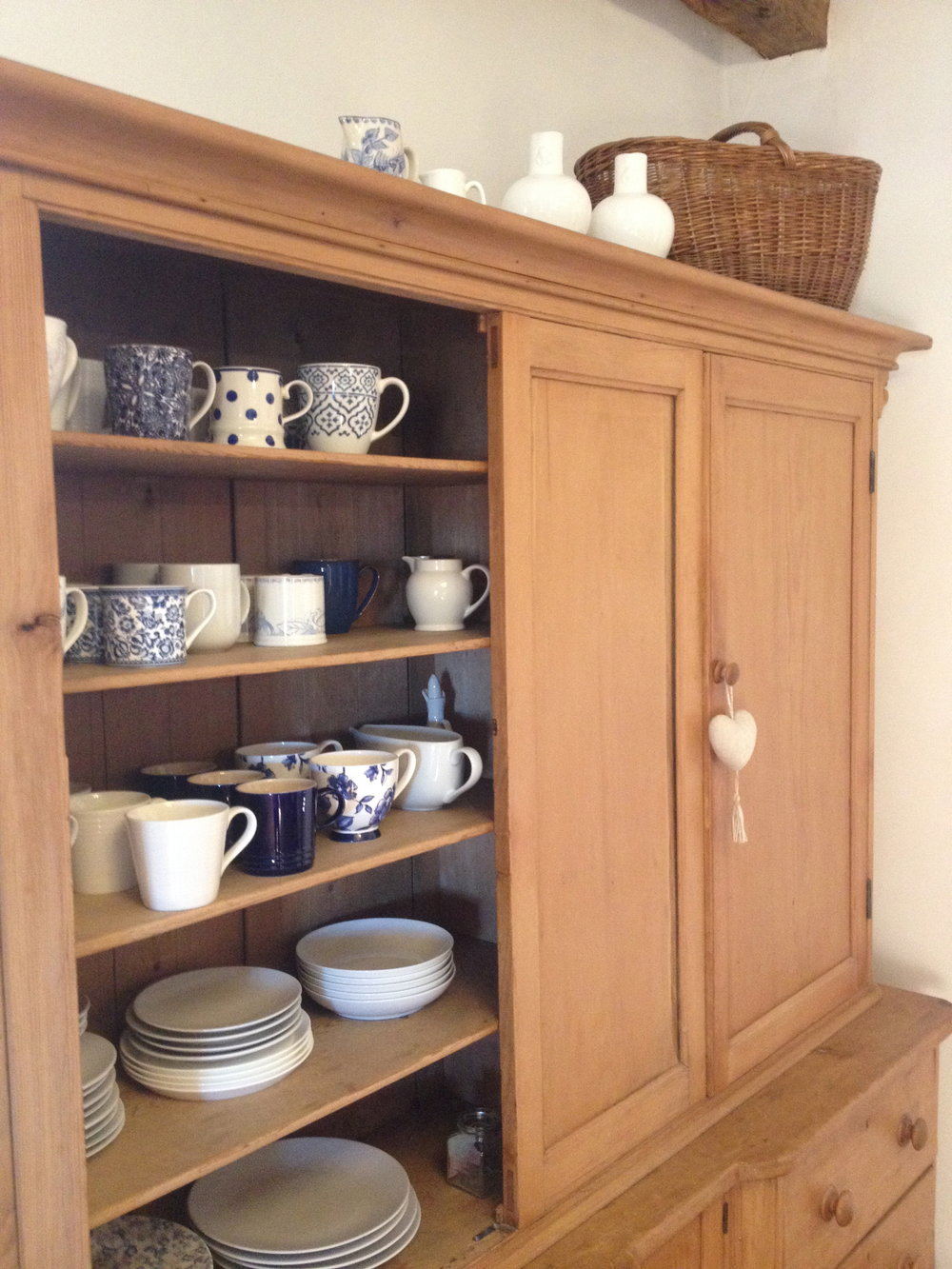 It was a picture of the blue and white cups cupboard that kicked off our instagram account in January, The French Farmhouse in Quercy.