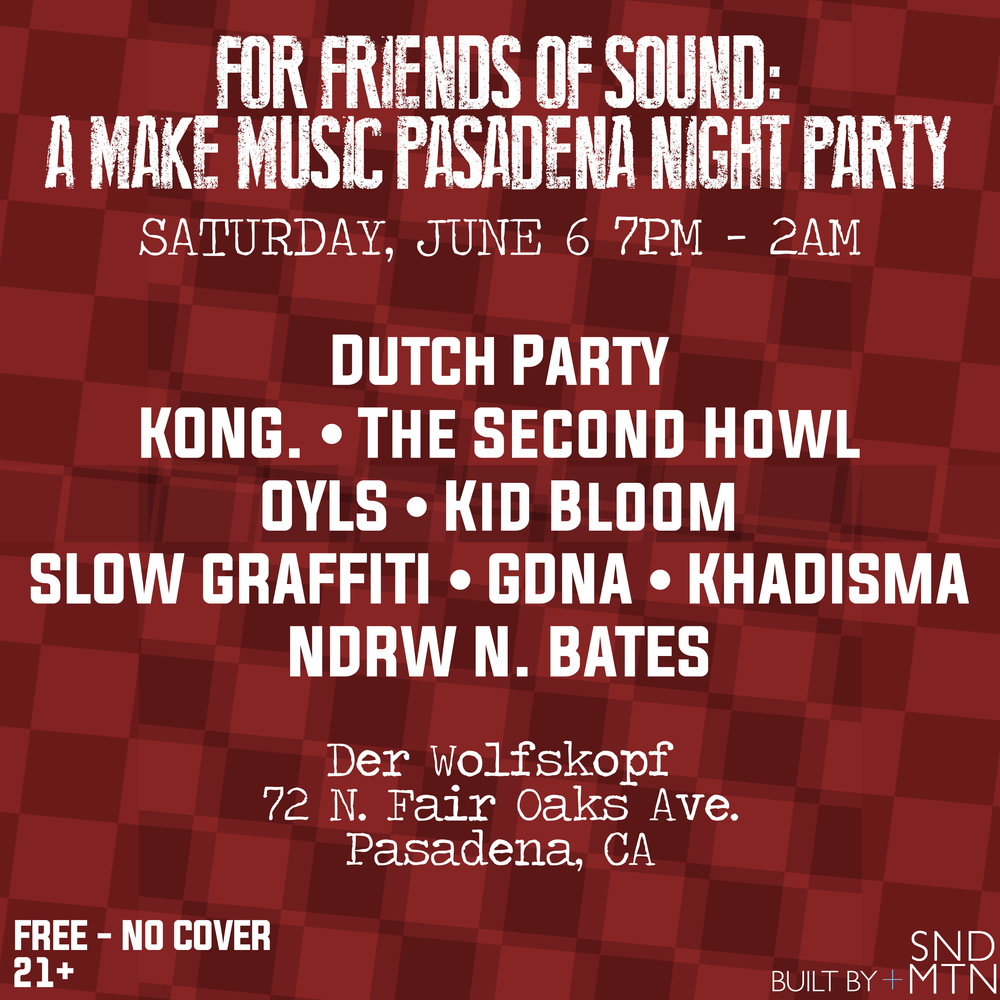 FOR FRIENDS OF SOUND