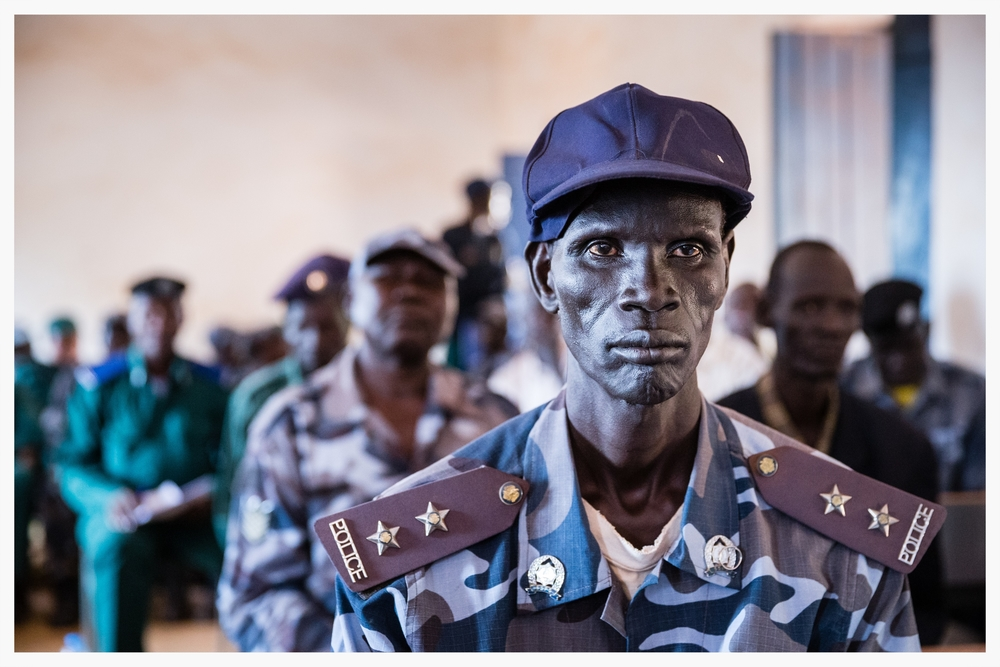 Police officer, Wau, Western Bahr el Ghazal state, South Sudan. Photo © Marcus Perkins