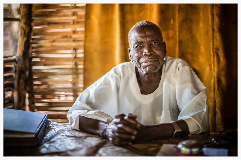 Traditional judge,  Jebel Kheir, Wau, WBEG State, South Sudan . Photo © Marcus Perkins
