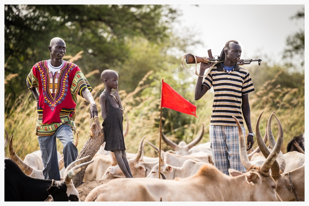 Galweng (cattle protector), Lakatoc cattle camp, Tonj North, South Sudan  . Photo © Marcus Perkins