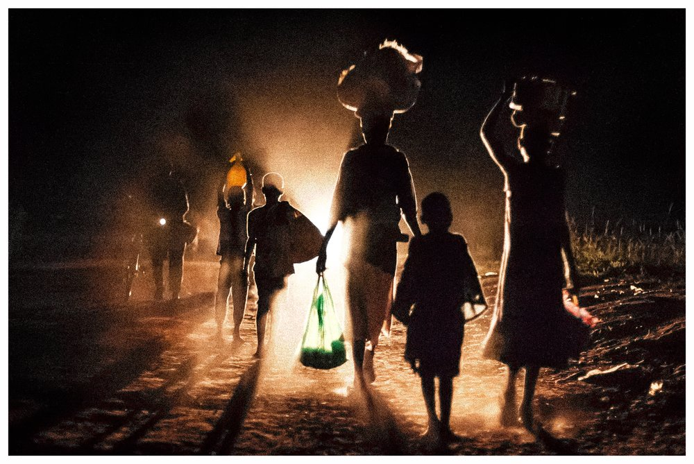 Night walkers escaping from the LRA. Photo © Marcus Perkins