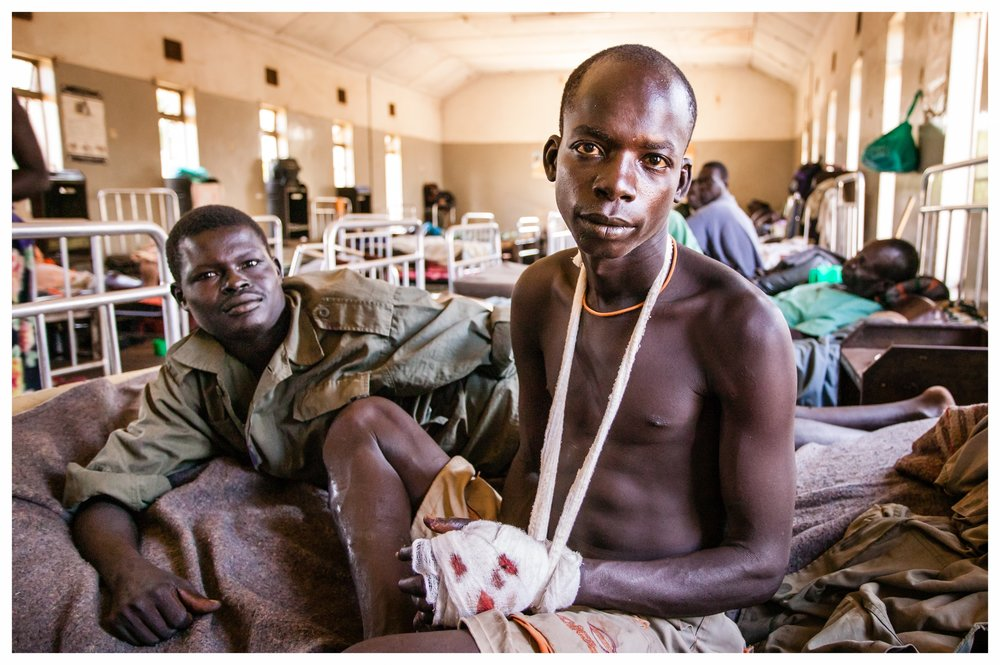 Injured UPDF soldier in Kitgum, Northern Uganda. Photo © Marcus Pekrins