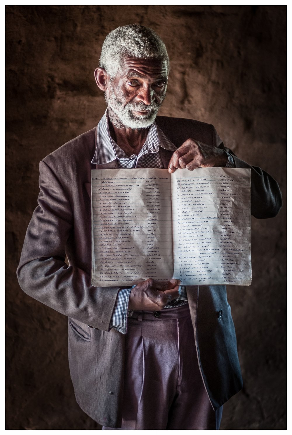 Bernard, village Councillor for the MDC, holds the record of people beaten in his area by Mugabe's forces . Masvinga, Southern Zimbabwe. Photo © Marcus Perkins
