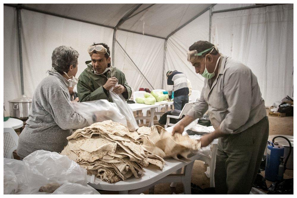 World Vision kitchen at TCN refugee camp,Ar Ruwayashid. Photo © Marcus Perkins