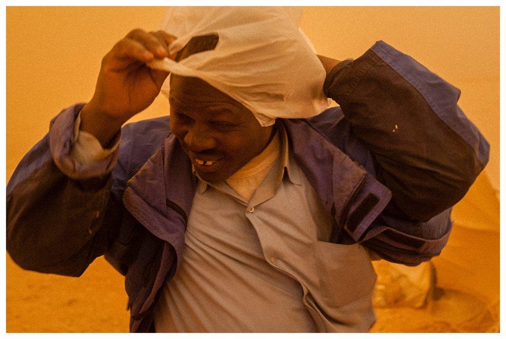 Refugee at the TCN refugee camp,Ar Ruwayashid. Photo © Marcus Perkins