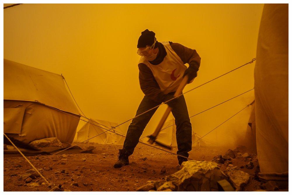 TCN refugee camp,Ar Ruwayashid. Photo © Marcus Perkins