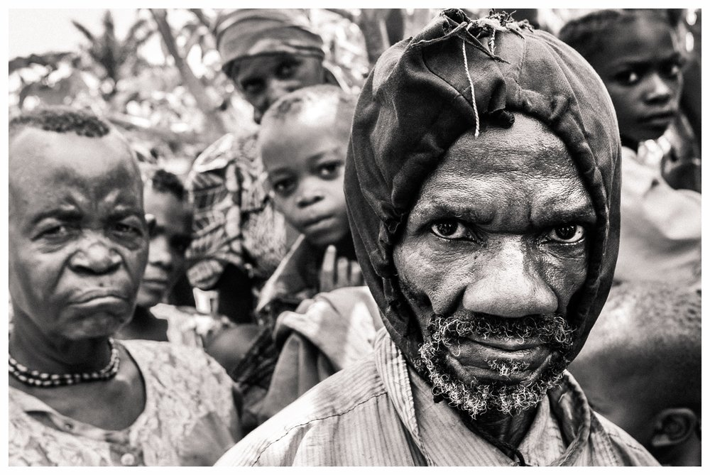 A pygmy elder in Eringeti, north east Congo. Photo © Marcus Perkins