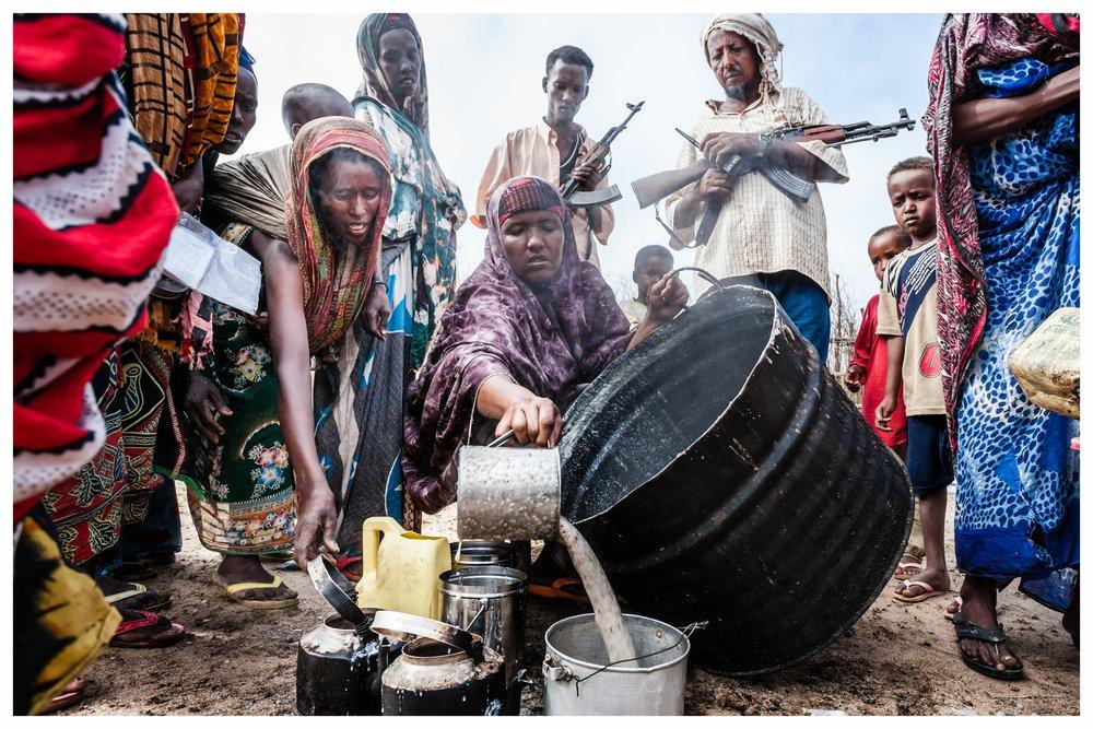 Food distribution in Bu'aale, Somalia. Photo © Marcus Perkins