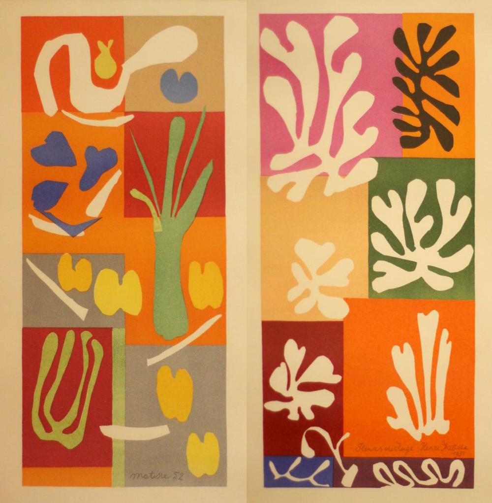 Henri Matisse Représentation Végétale & Fleurs de Neige, 1952