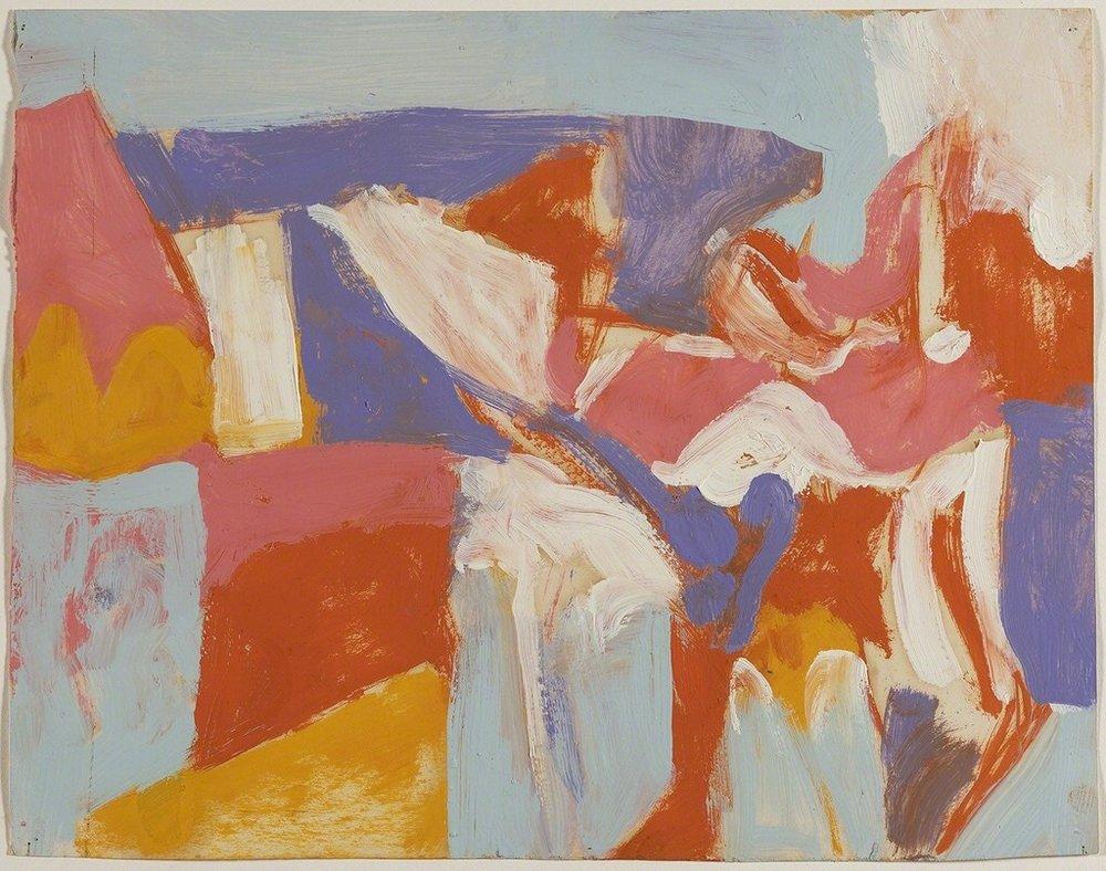 Charlotte Park (American, 1918-2010), Untitled (60-15), c.1960. Gouache on paper, 29.8 × 36.2 cm