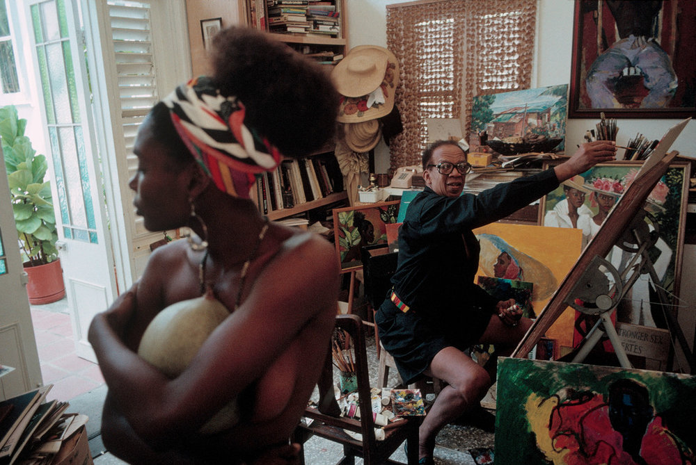 David Alan Harvey. TRINIDAD AND TOBAGO. 1993. Famous painter Bosco Holder.