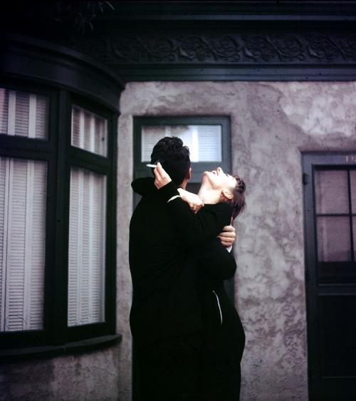 Audrey Hepburn & Dean Martin share a laugh on the set of Sabrina by Billy Wilder, 1953