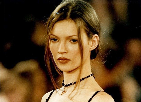 Kate Moss on the runway, 1997