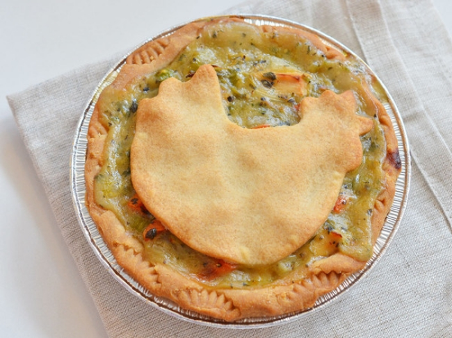 Egg Free, Gluten-Free, Nut-Free, Dairy-Free Chicken Pot Pie from Mariposa Bakery