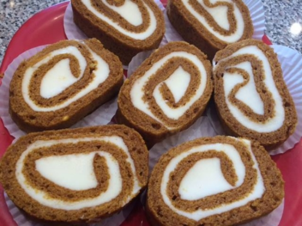 Pumpkin Spice Roll, Gluten-Free and Nut-Free, Photo Credit: A&J Bakery
