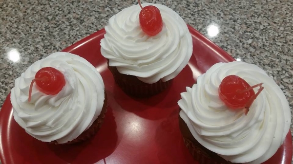 Cherry Bomb Cupcake, Gluten-Free and Nut-Free, Photo Credit: A&J Bakery