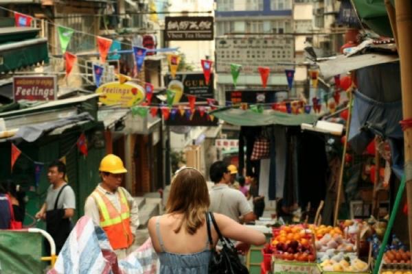 Visiting the local markets in hong kong