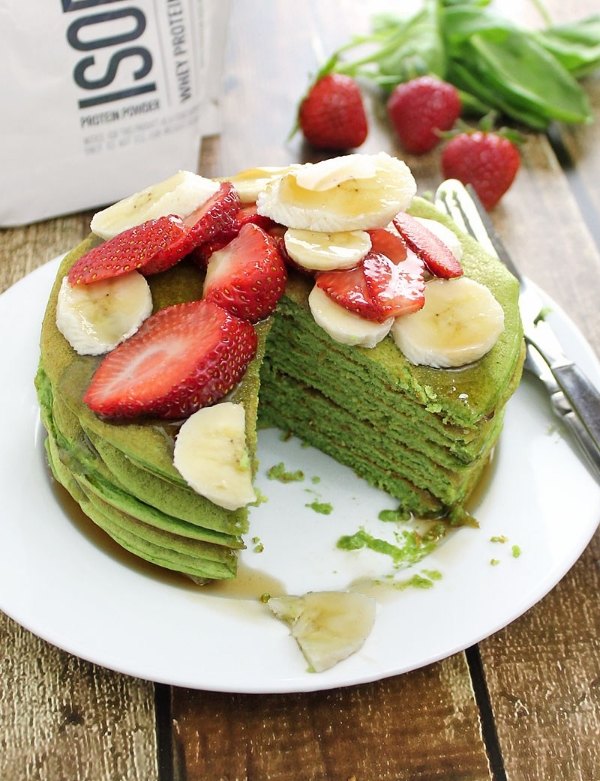 Green Smoothie Pancakes, Photo Credit: Runnin Srilankan
