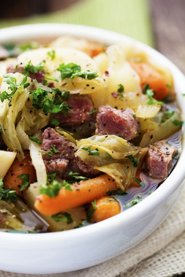 Slow Cooker Corned Beef Stew, Photo Credit: The Recipe Critic
