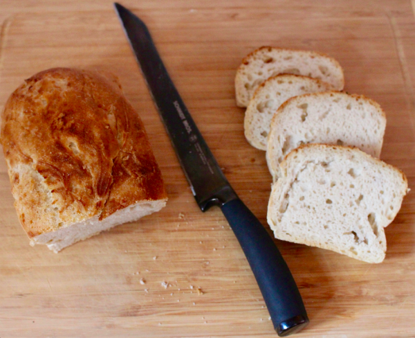 Slices of Gluten-Free, Nut-Free, Vegan Bread Srsly sourdough bread