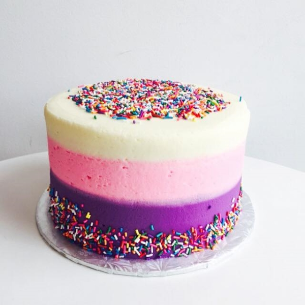Ombre Cake, Photo Credit: Short & Sweet Bakeshop