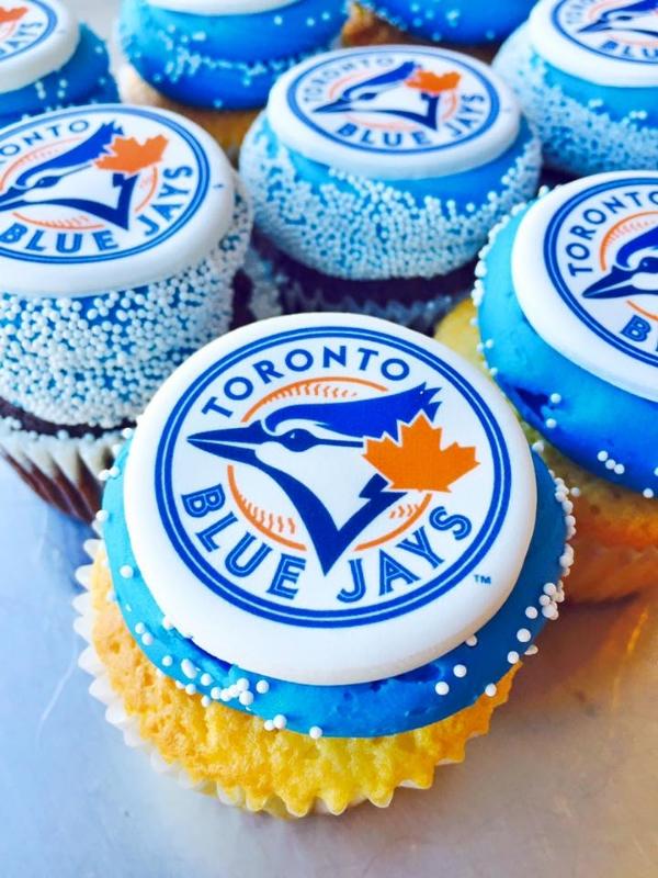 Toronto Blue Jays Nut-Free Cupcakes, Photo Credit: Short & Sweet Bakeshop