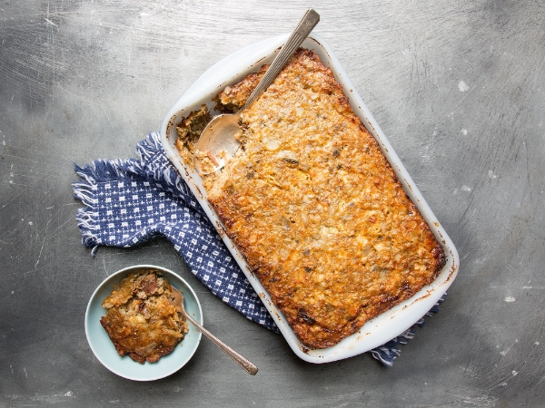Gluten-Free, Nut-Free Brisket and Potato Kugel, Photo Credit: Saveur