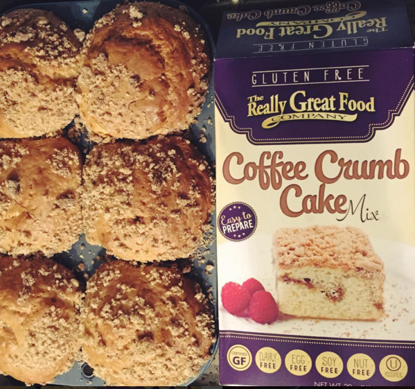 Nut-Free, Gluten-Free, Egg-Free, Soy-Free Coffee Cake Muffins from The Really Great Food Company