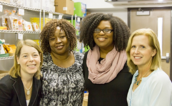 Emily Brown, second from the right, is co-founder and CEO of the Food equality Initiative. From left, Amy Goode is co-found and CFO; Kwesi Lisso is medical liaison; and Gail Mitchell-Smith is events coordinator.