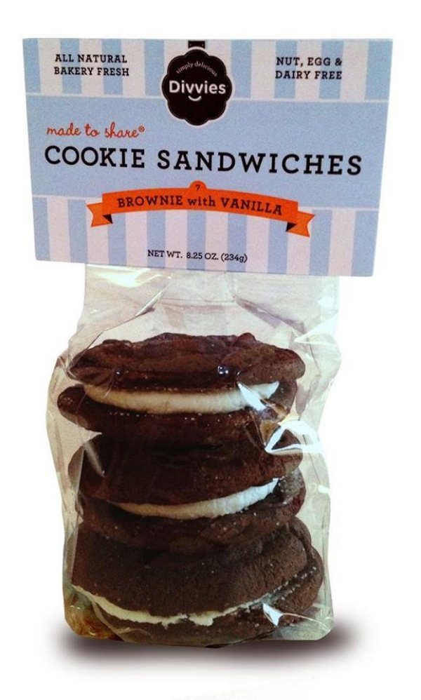 Divvie's Cookie Sandwiches, Dairy-Free, Egg-Free, Nut-Free