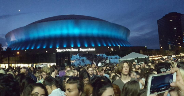 Mercedes-Benz Superdome in New Orleans Turned Teal! Photo Credit: @candiceeliseasana
