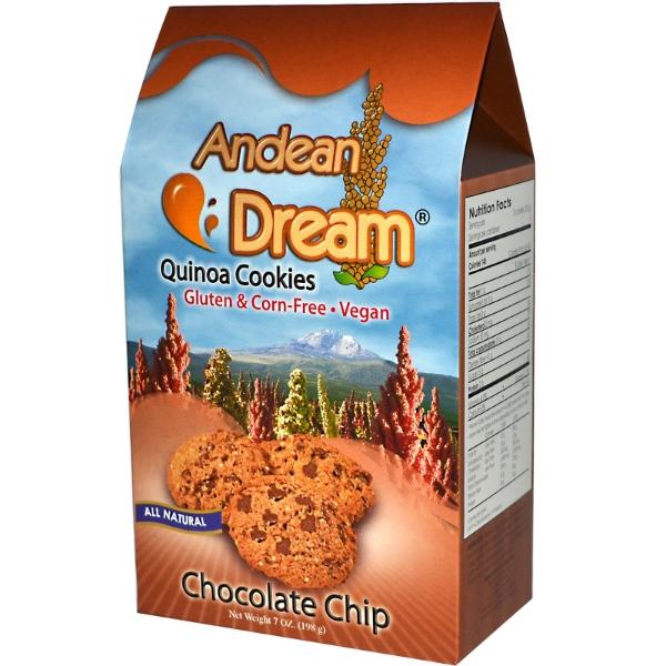 Andean Dream Quinoa Cookies, Gluten-Free, Nut-Free, Dairy-Free