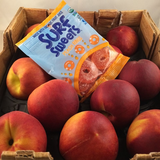 Surf Sweets Peach Rings, Allergy-Free, Gluten-Free, Nut-Free, Candy