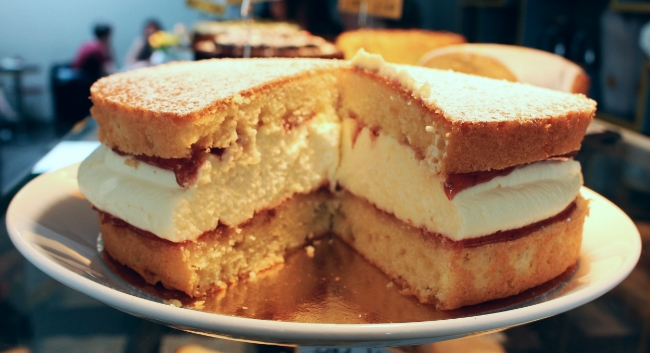 Gluten-Free Victoria Sponge Cake, Beyond Bread Bakery and Cafe