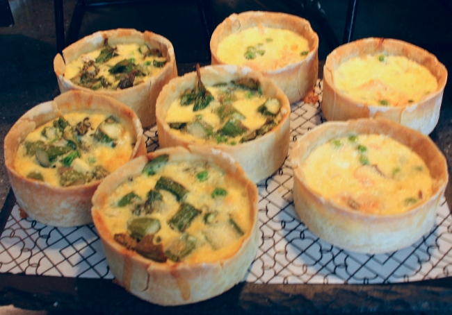 Gluten-Free Mini Quiches from Beyond Bread Bakery and Cafe